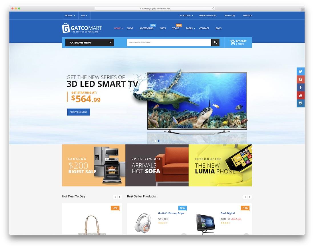 gatcomart ecommerce website template