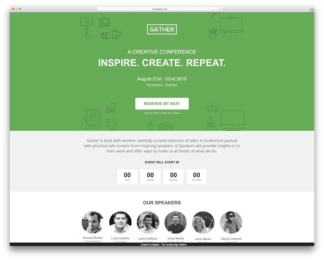 gather pagewiz marketing template