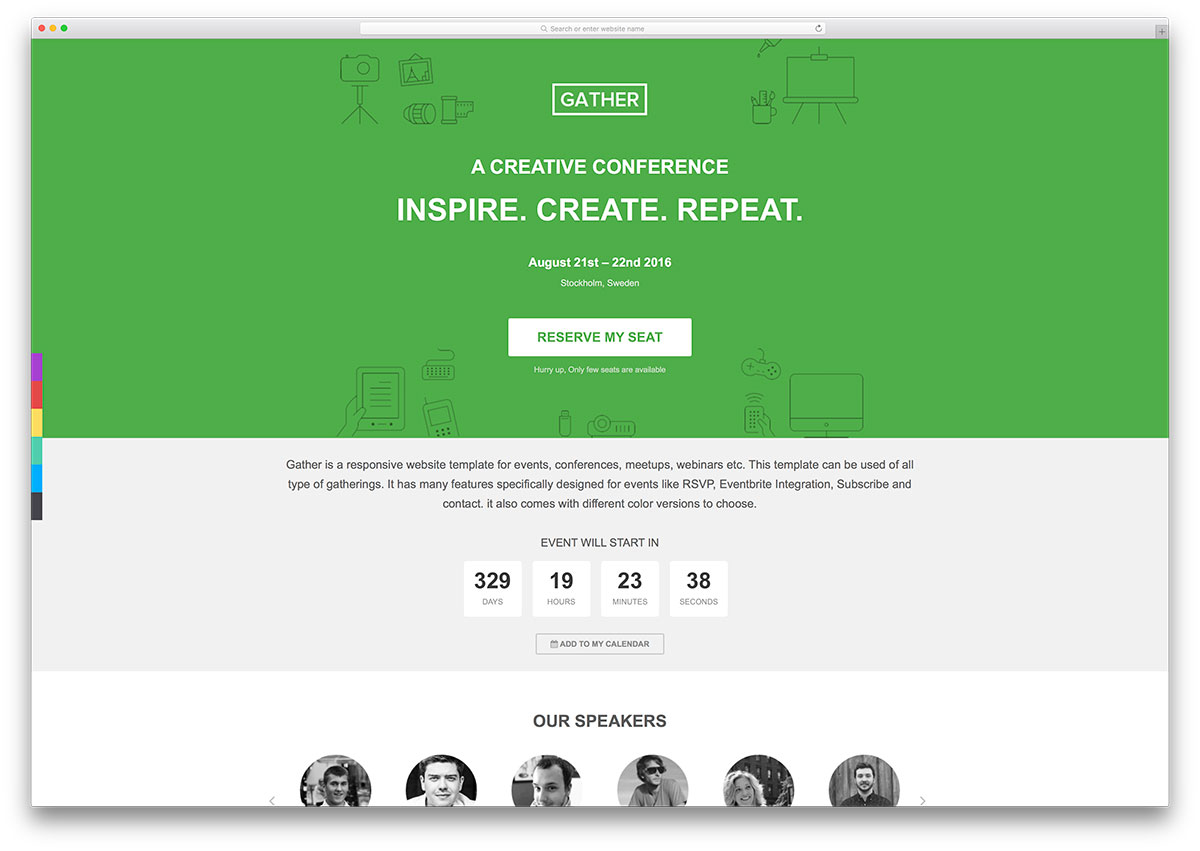 gather-simple-conference-landing-page-template