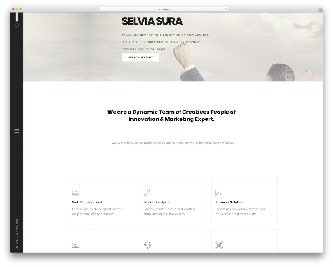 gaually beautiful website template