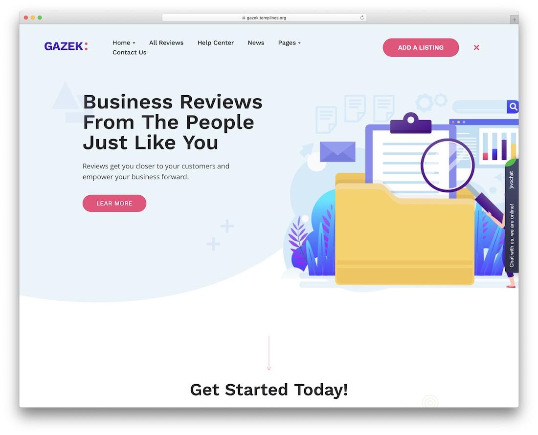 gazek wordpress review theme