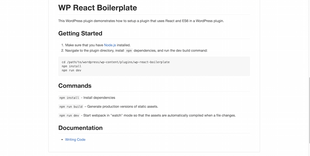 gcorne wp react boilerplate Get started with using React in a WordPress plugin