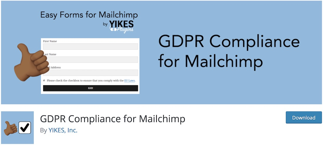 gdpr compliance for mailchimp