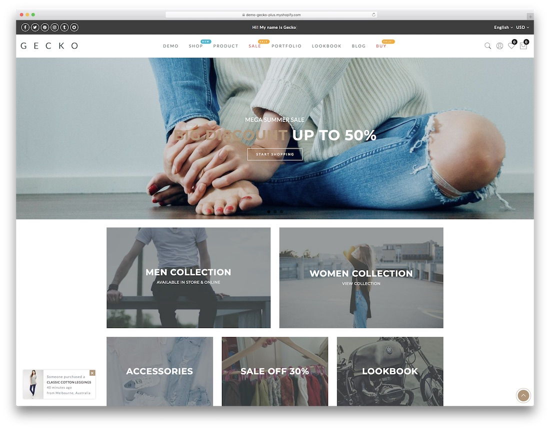 gecko fashion shopify theme