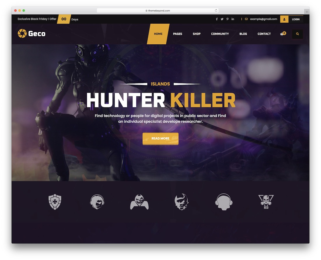 geco esports wordpress theme