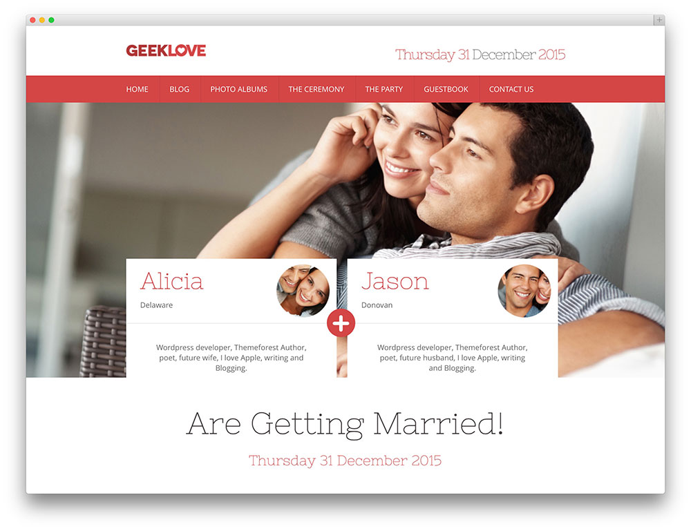 geeklove couple wordpres theme