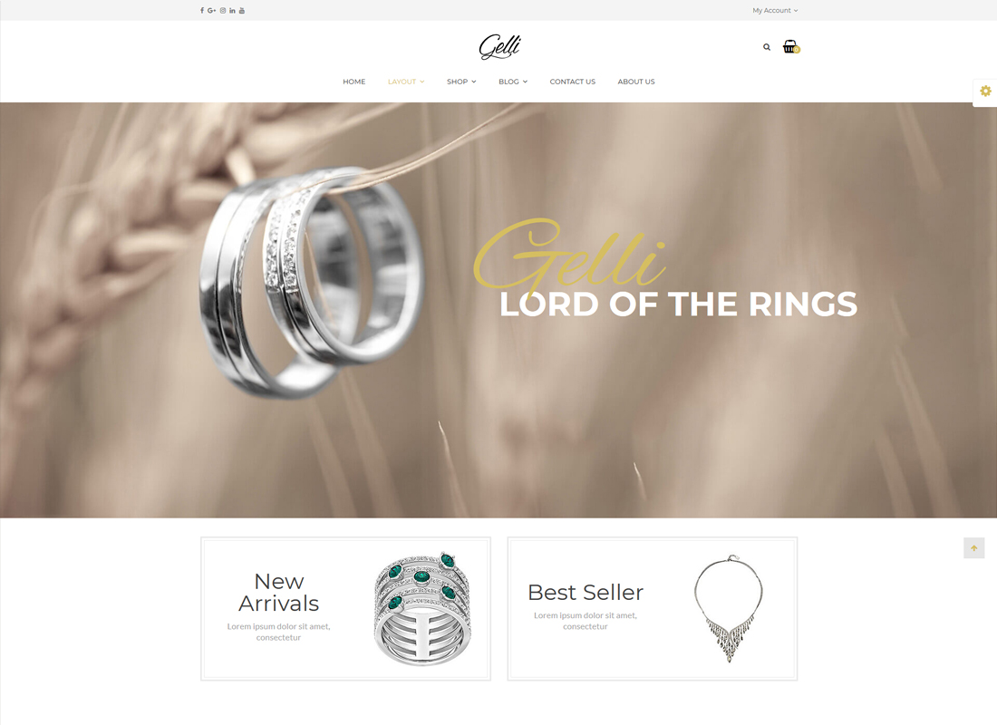 Gelli | Jewelry / Perfume / Accessories / Handmade Store WooCommerce WordPress Theme