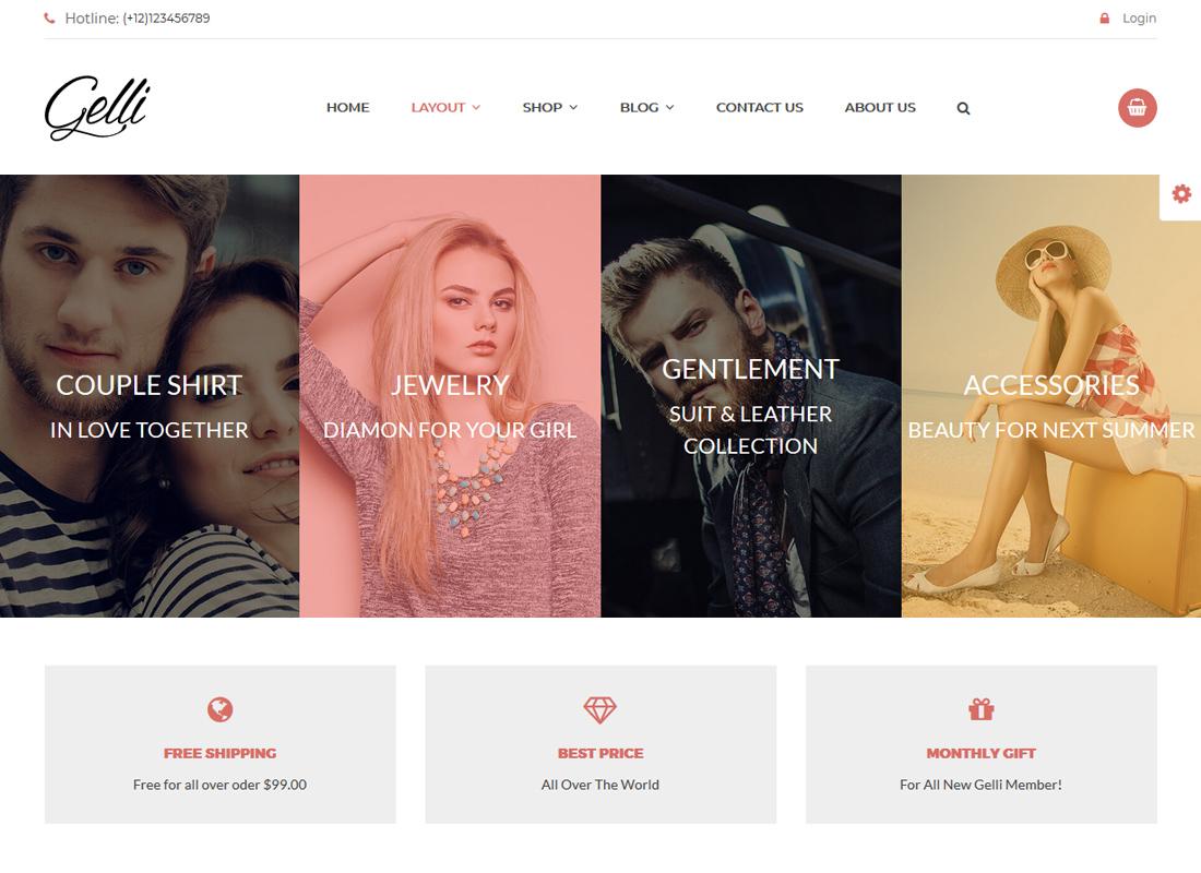 Gelli   WooCommerce Theme for Jewelry / Perfume / Accessories / Handmade Store