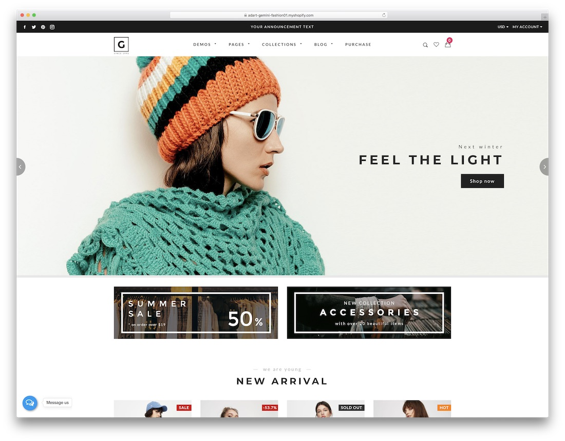 gemini fashion shopify theme