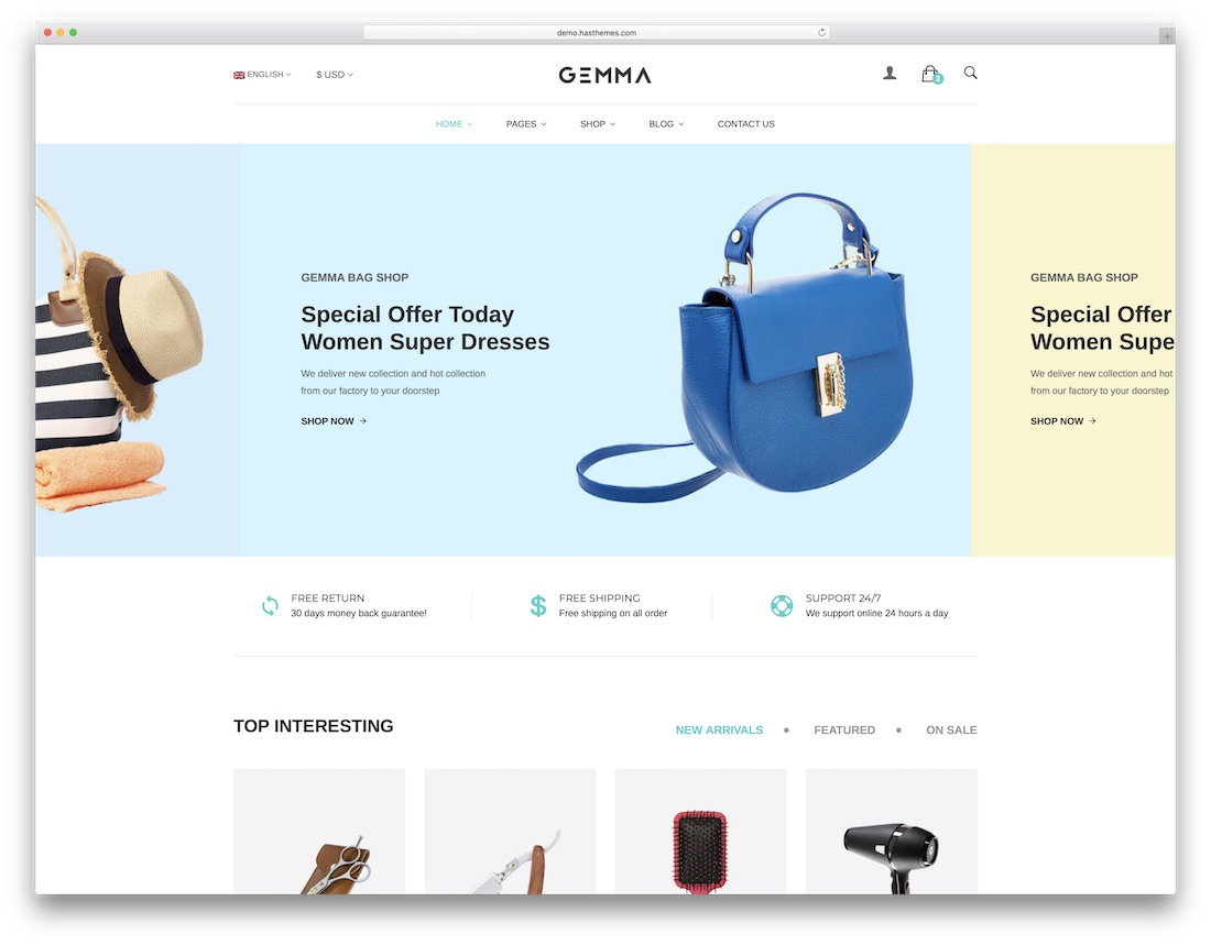 gemma ecommerce website template