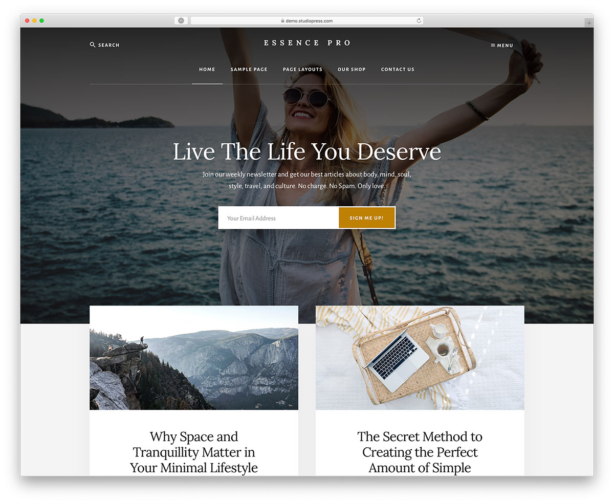 a place to call home setting executive pro review studiopress With its clean, minimal and stylish web design, Essence easily caters to  numerous different niches. However, this Genesis child theme is best  fitting to ...