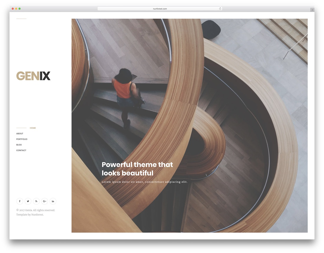 genix freelancer website template