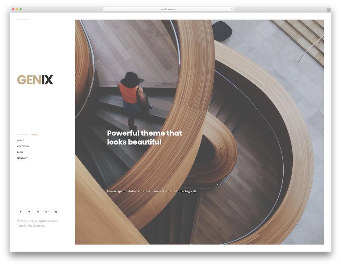 genix graphic design website template