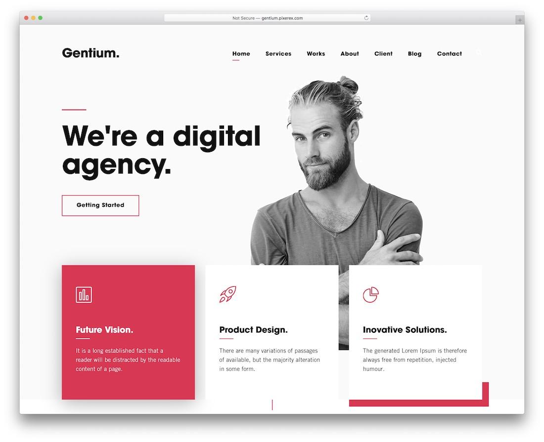 gentium creative wordpress theme
