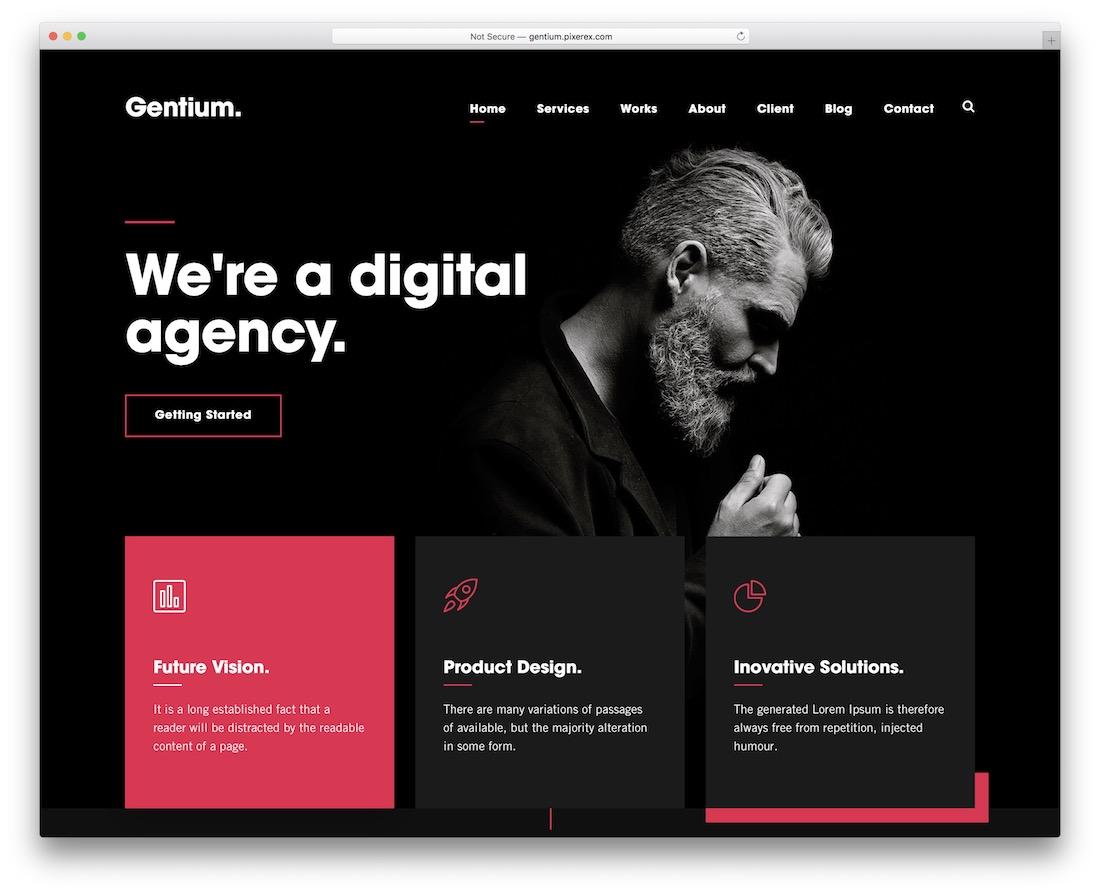 gentium designer website template