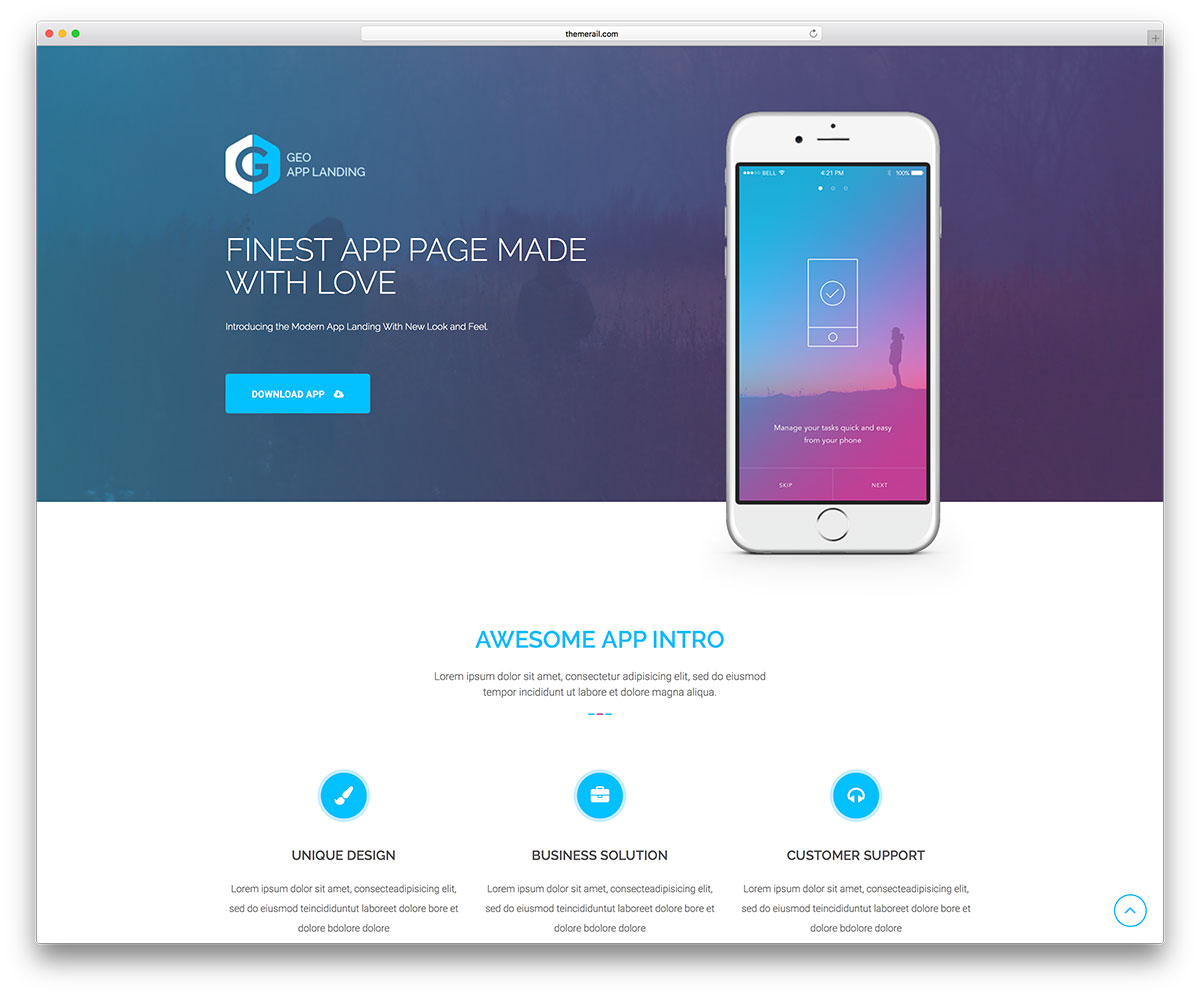 Geo Lightweight And Responsive WordPress Web Landing Page Website Theme It S A Clever Crafty Building Toolkit For All Kinds Of Projects