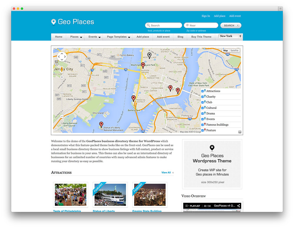 Geo Places Awesome Directory Theme