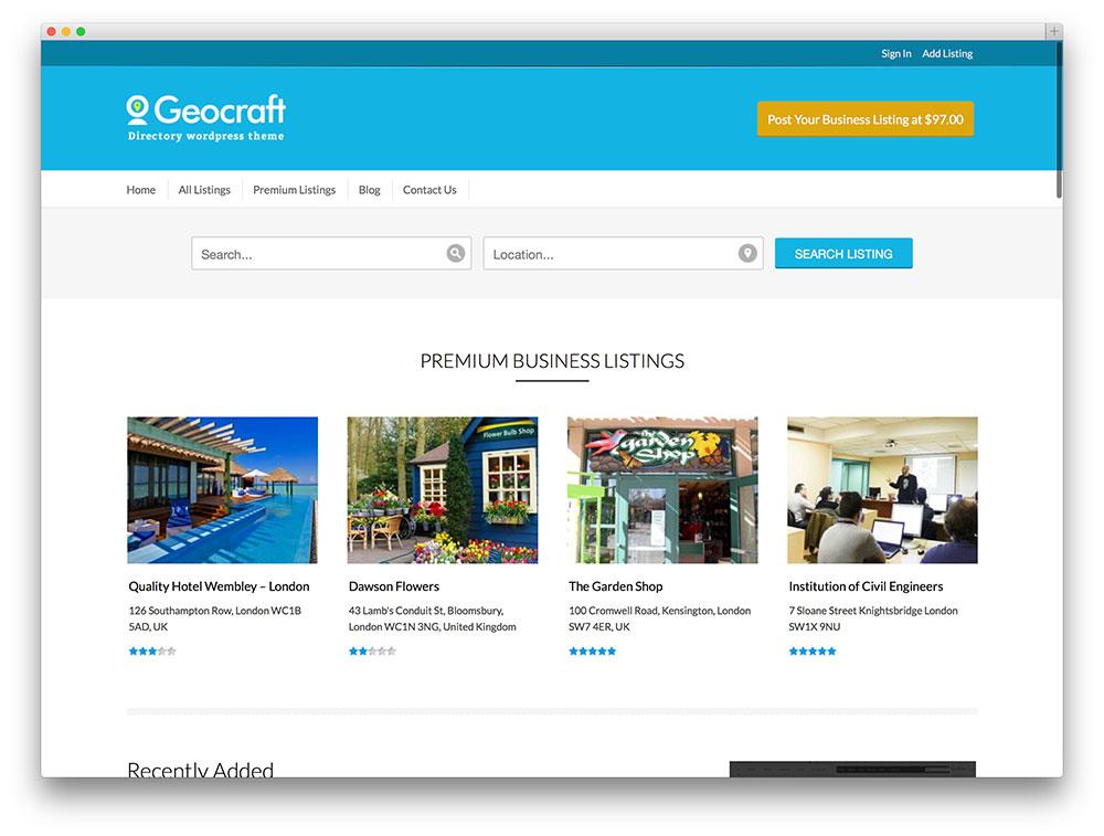 geocraft - classic directory theme