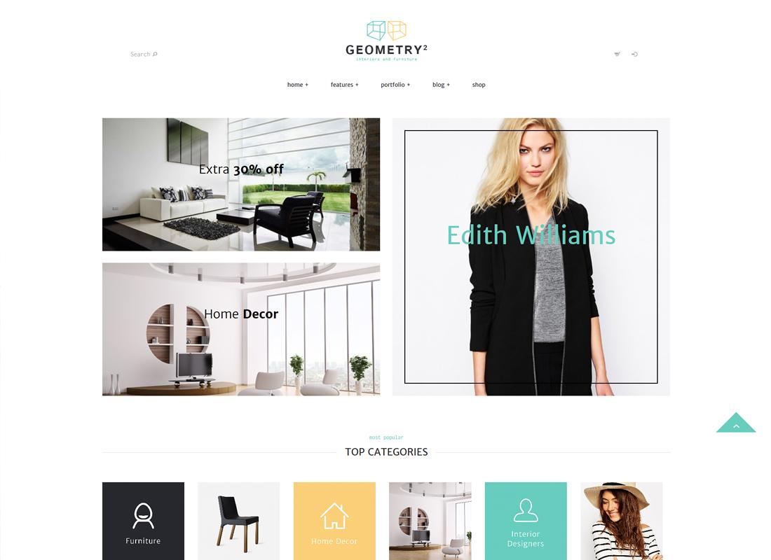 Geometry - Interior Design & Furniture Shop WordPress Theme
