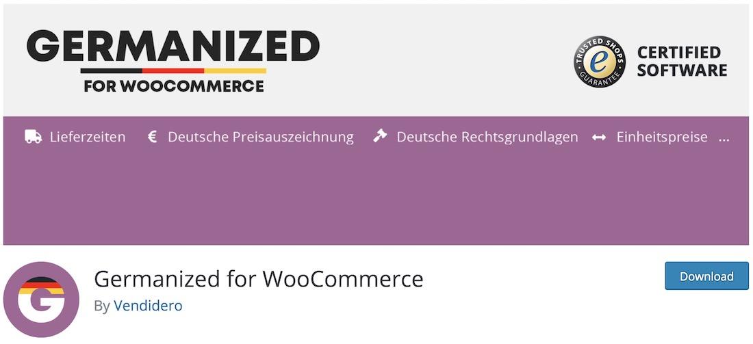 germanized for woocommerce plugin