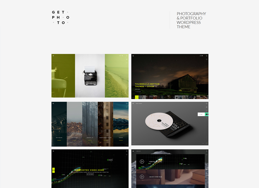 GetPhoto - Photography & Portfolio WordPress Theme