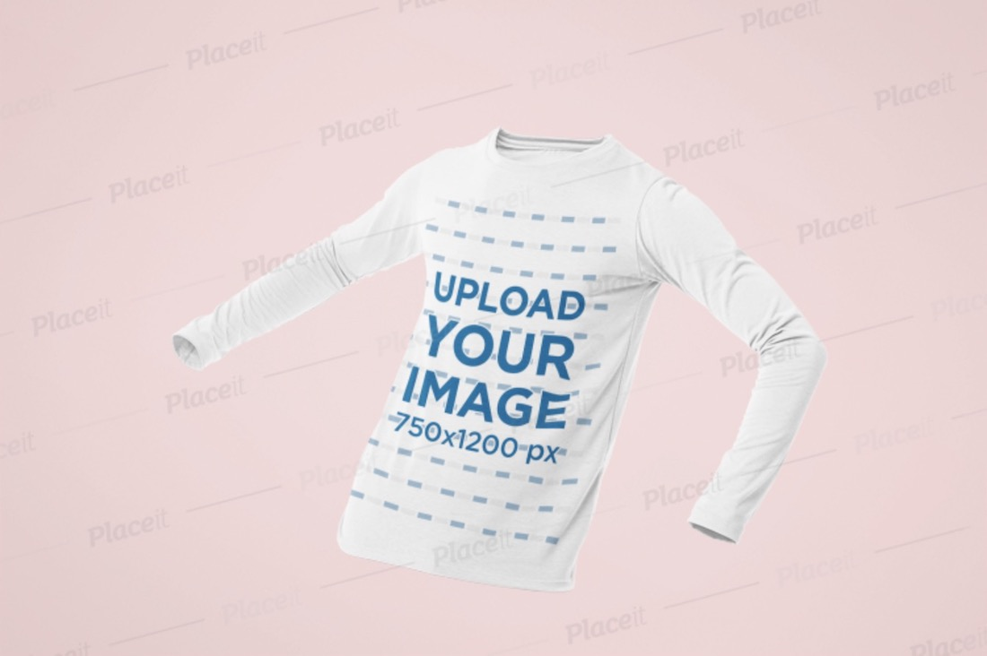 ghosted mockup of a mens long sleeve shirt