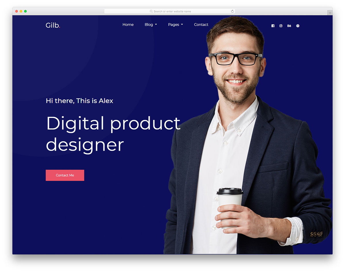 Скачать бесплатно html шаблон Gilb