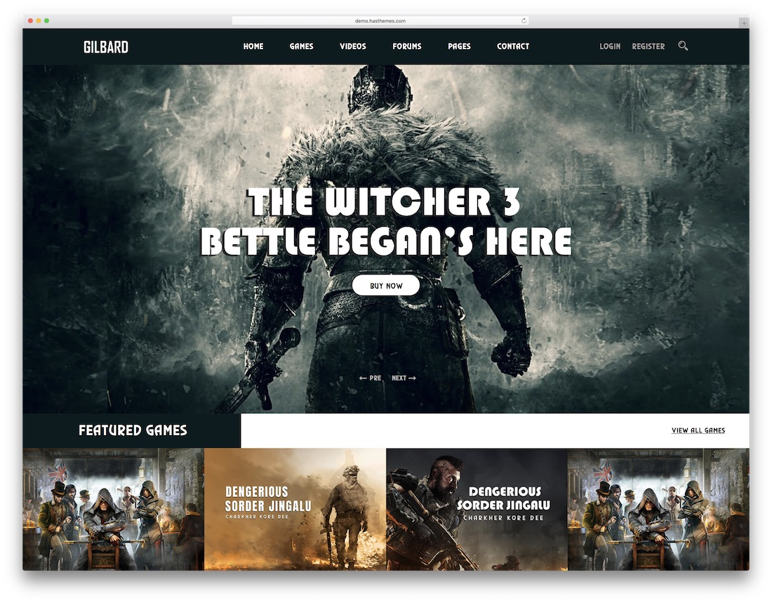 gilbard clan website template