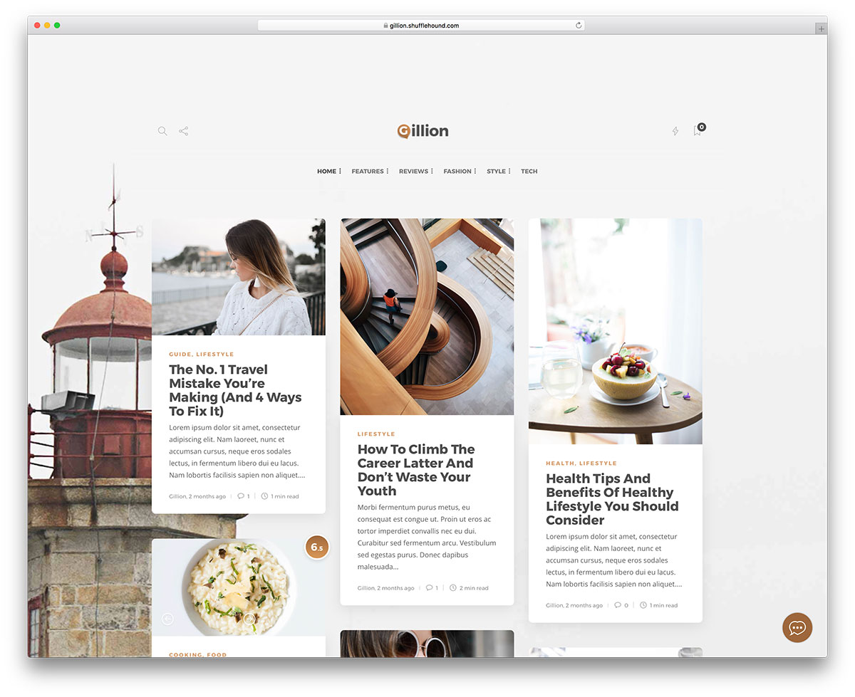 Gillion - fastest WordPress blog theme