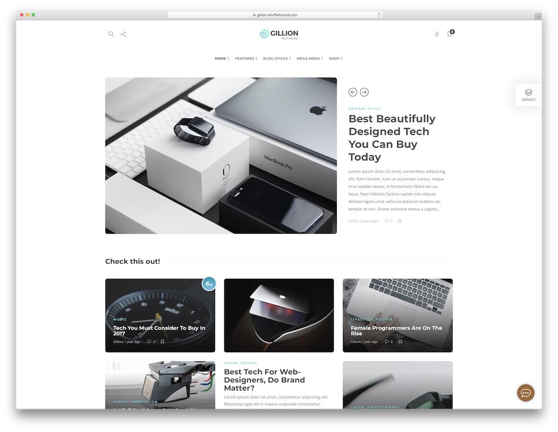gillion bootstrap website template