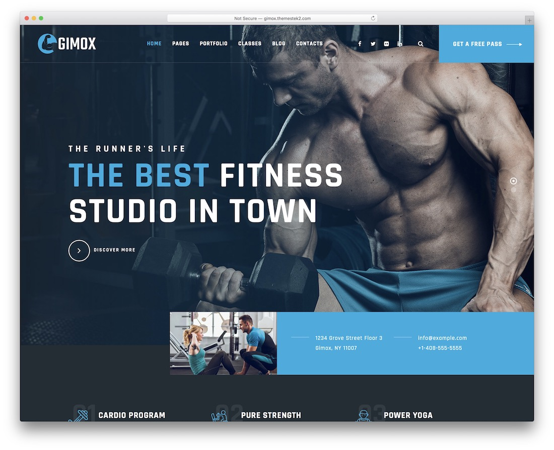 gimox wordpress fitness theme