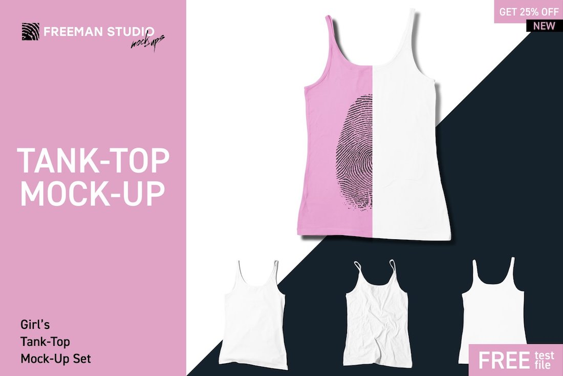 girls tank top mock-up set