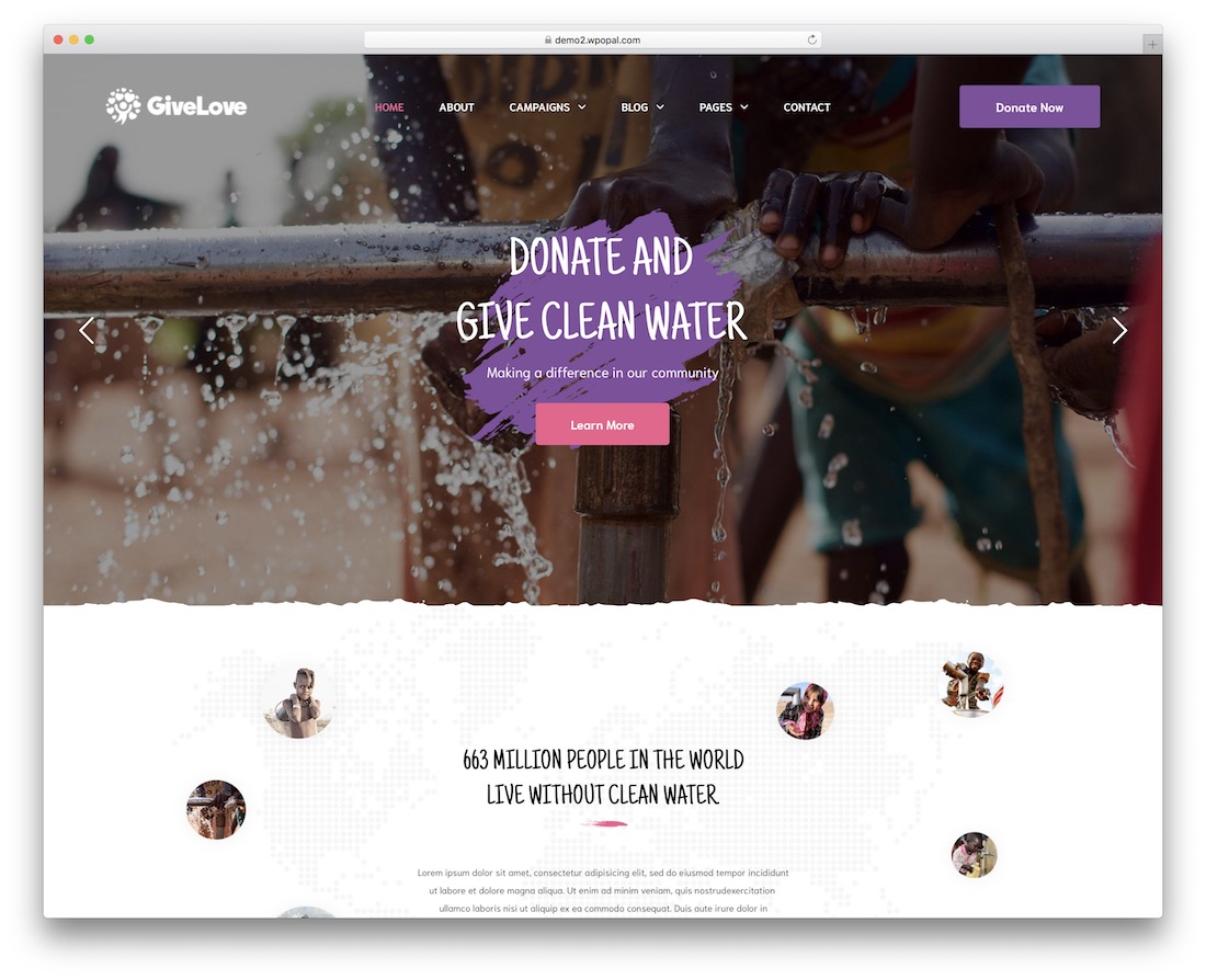 givelove wordpress theme