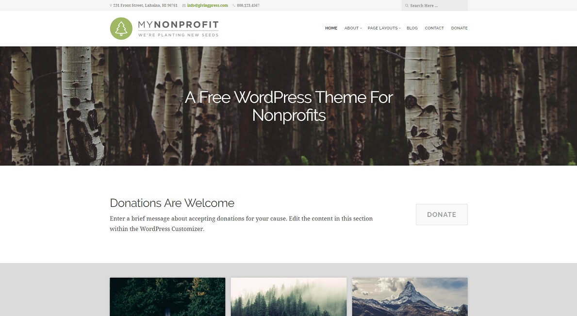 14 best free church website templates 2017 colorlib givingpress free church website template pronofoot35fo Image collections