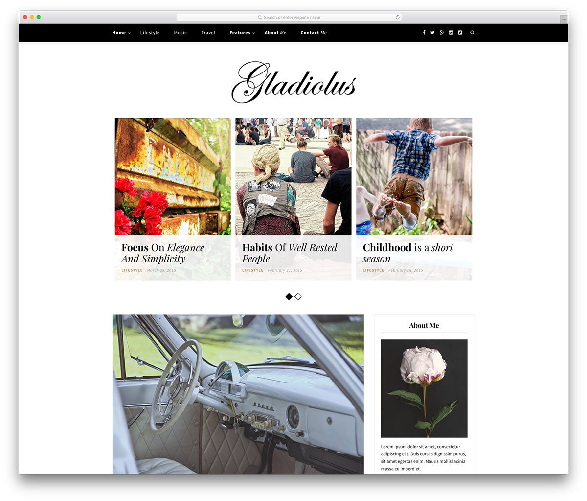 gladiolus-simple-wordprerss-blog-template