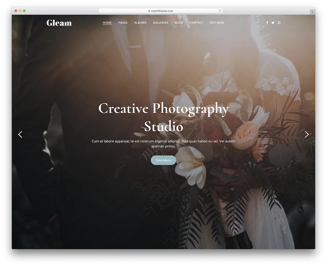 gleam gallery website template