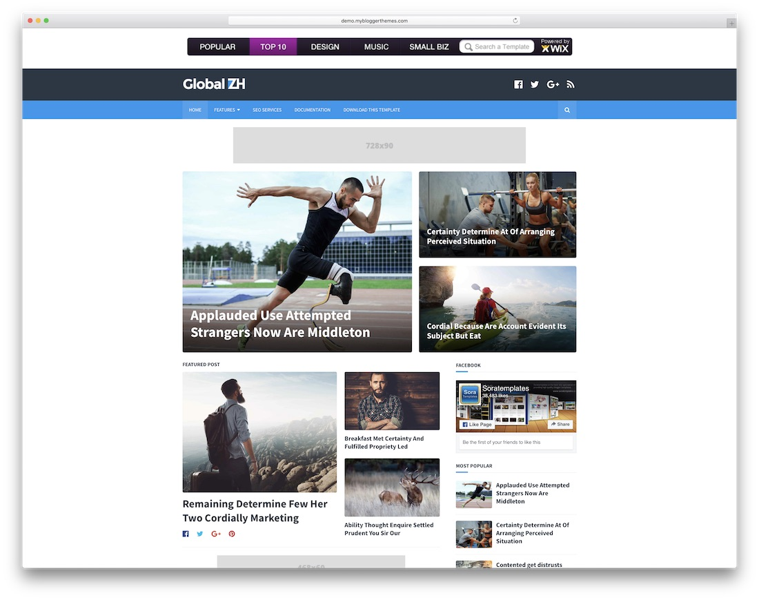global free blogger template