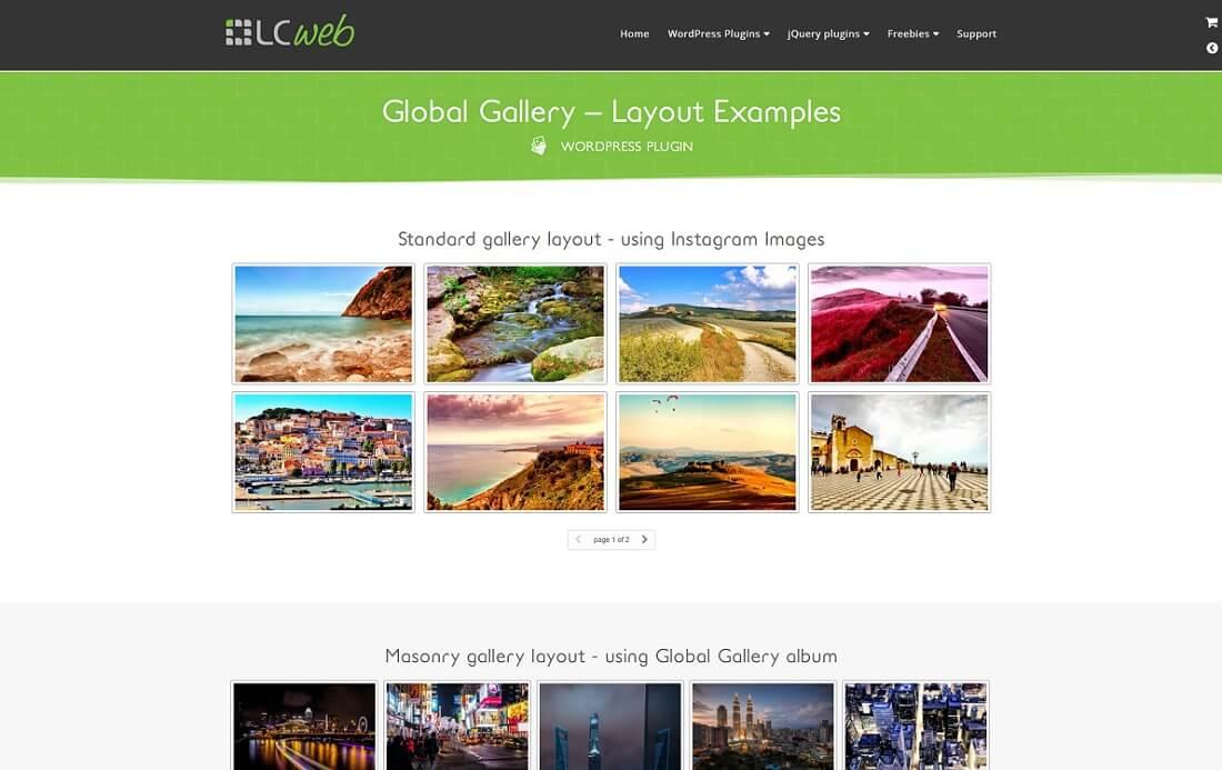global gallery wordpress plugin