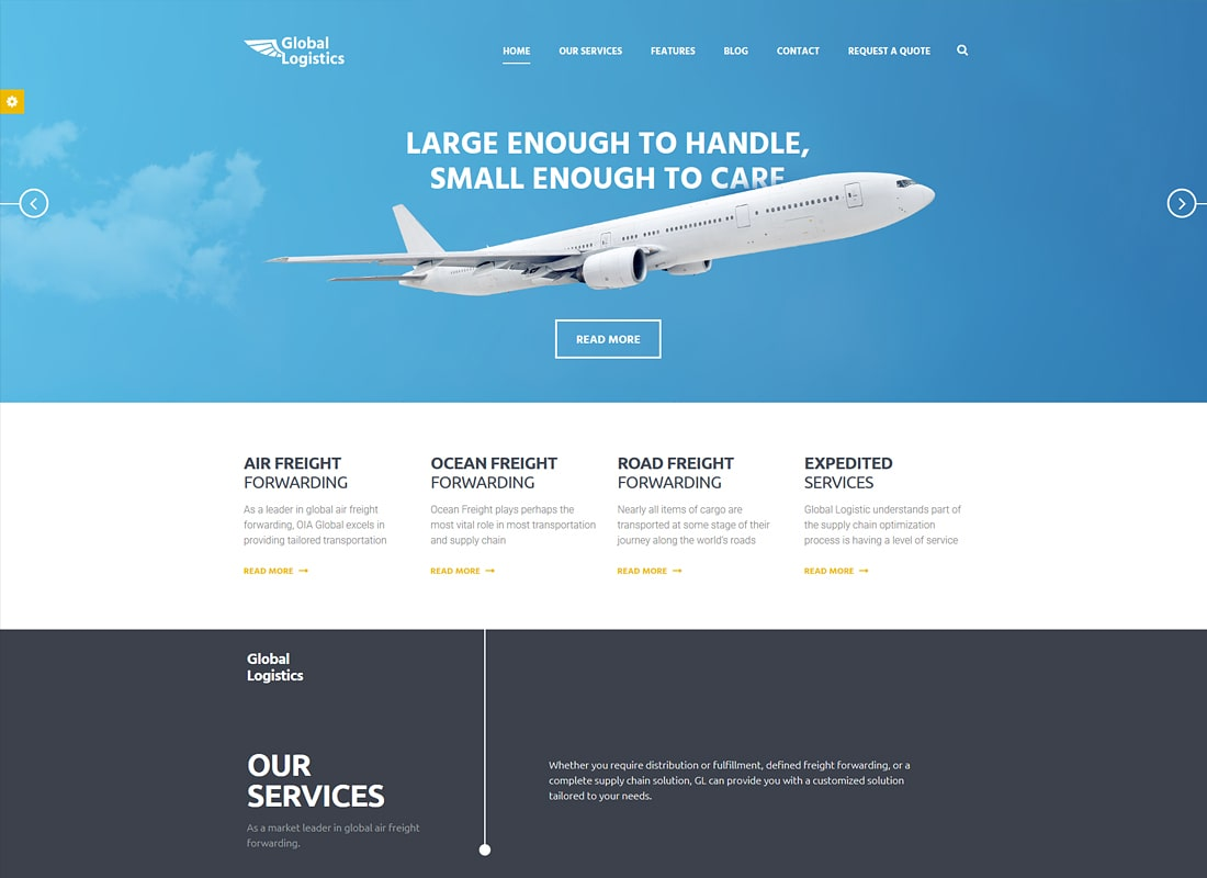 Global Logistics - Transportation HTML Template