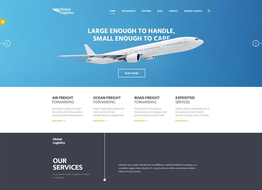 Global Logistics | Transportation & Warehousing WordPress Theme