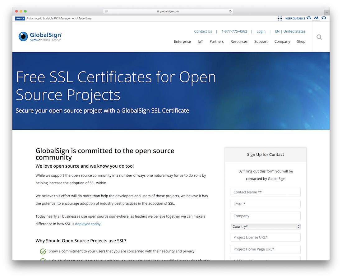 globalsign free ssl certificates