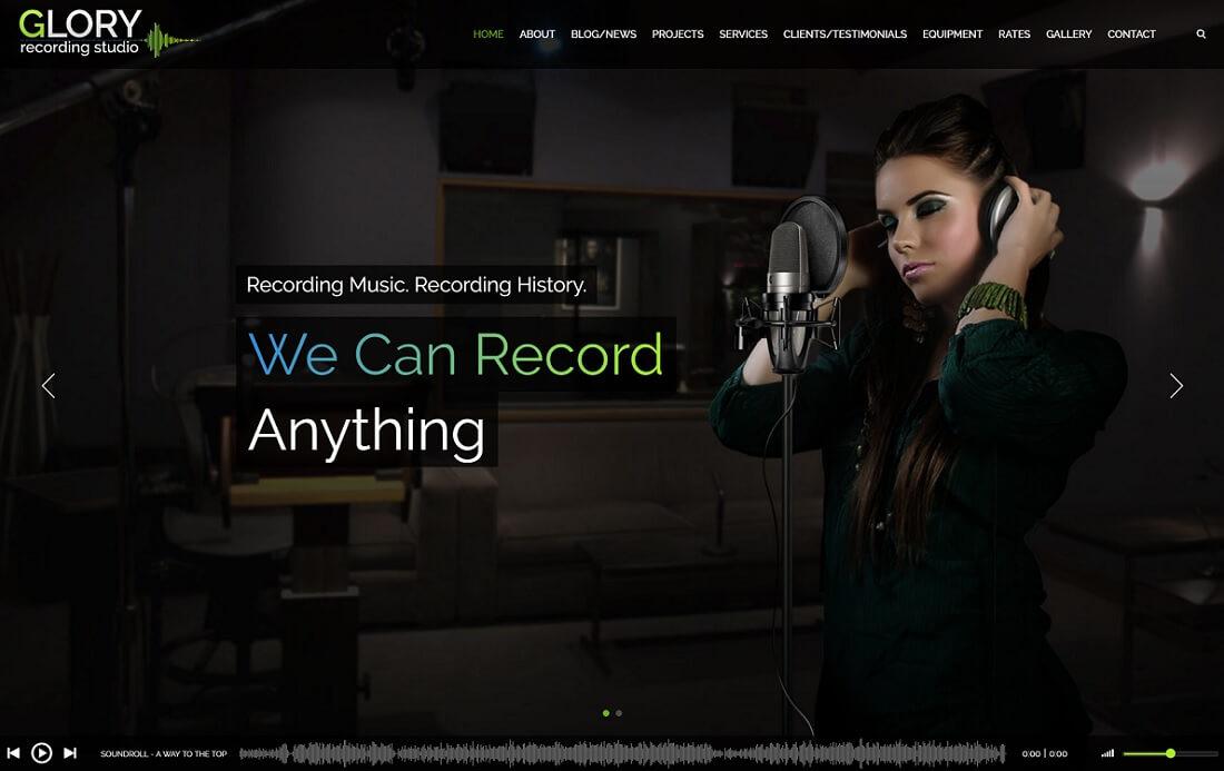 glory musician website template