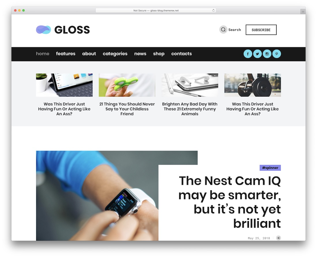 gloss gaming wordpress theme