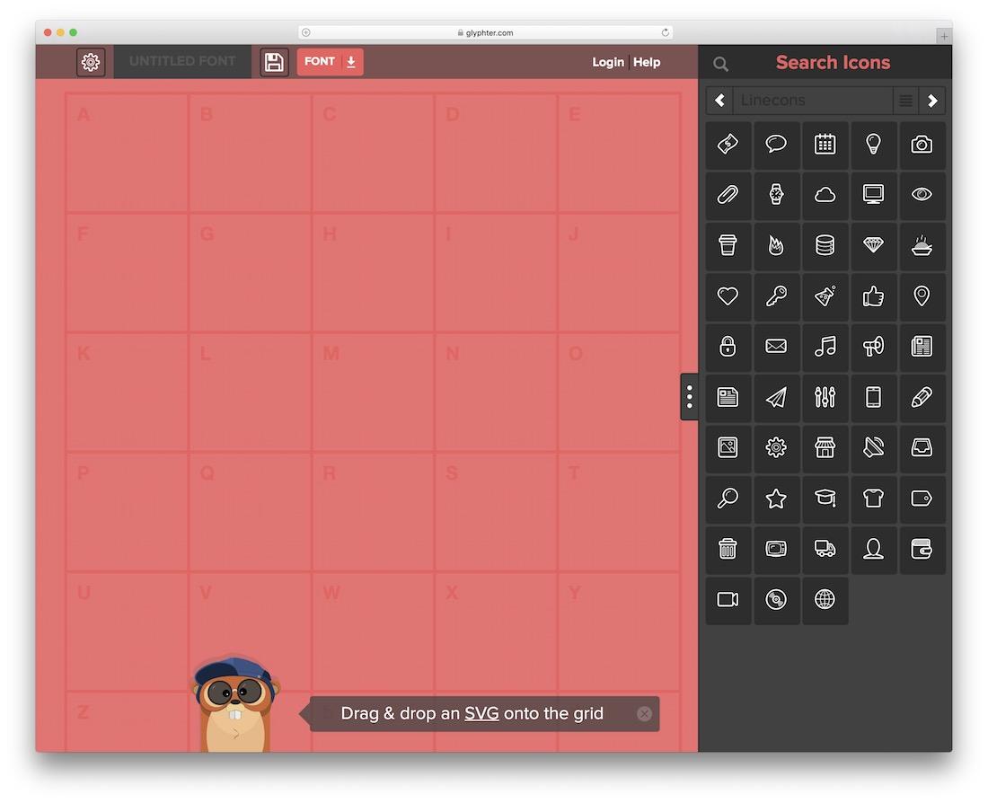 glyphter svg editor tool