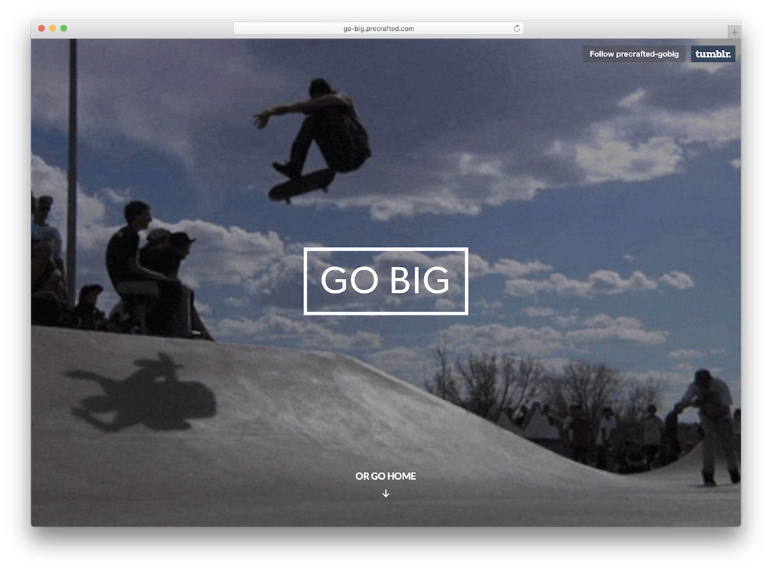 go big tumblr theme