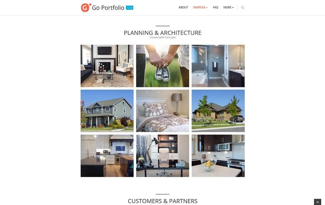 go portfolio wordpress responsive portfolio