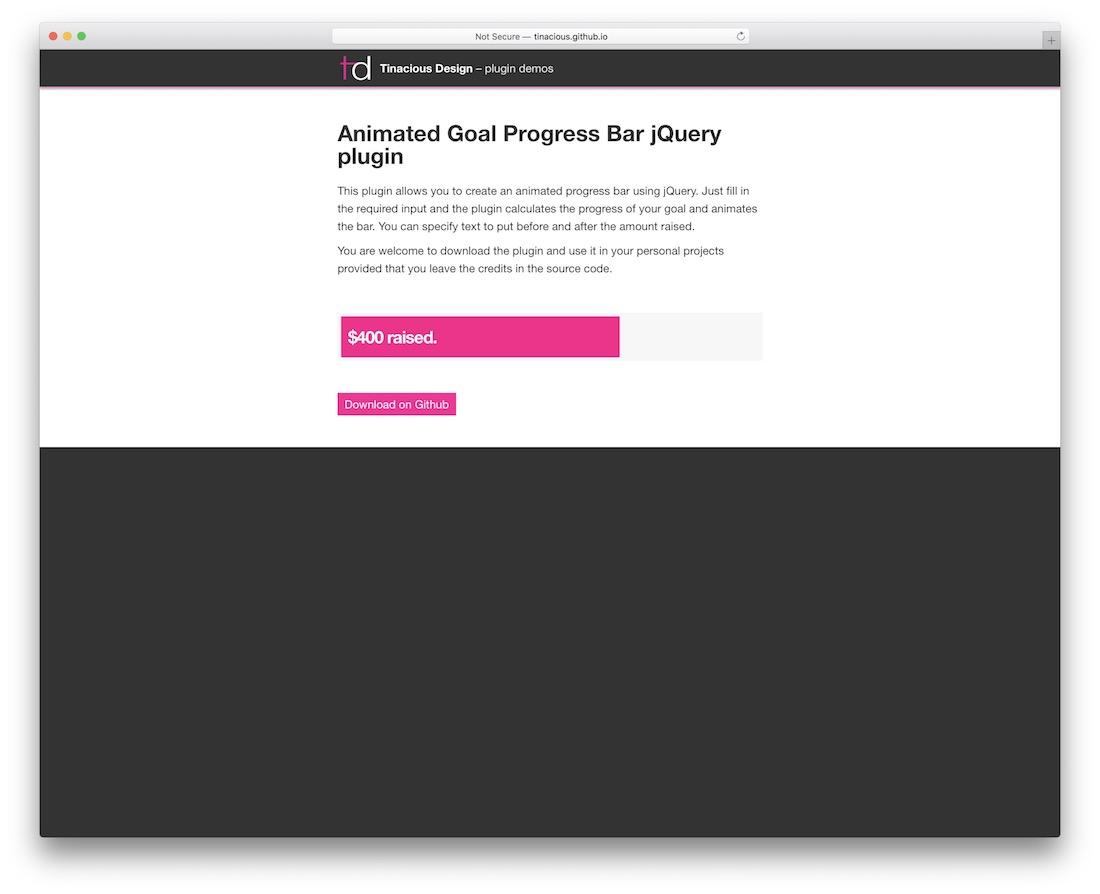 goalprogress jquery progress bar