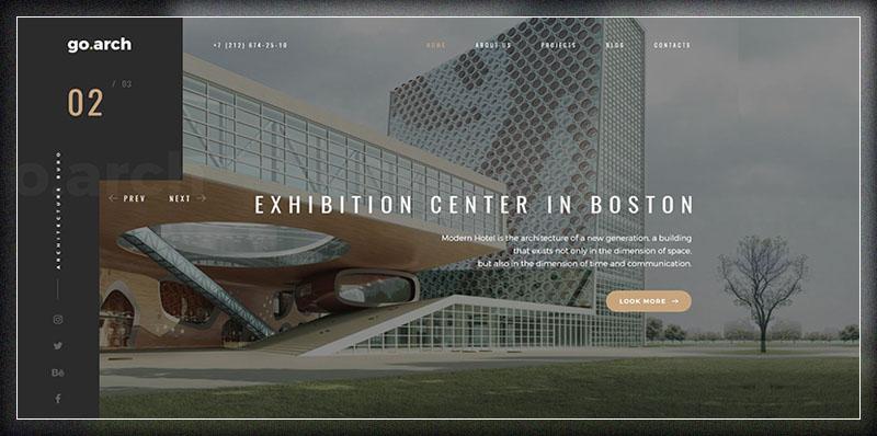 go.arch - Architecture and Interior WordPress Theme