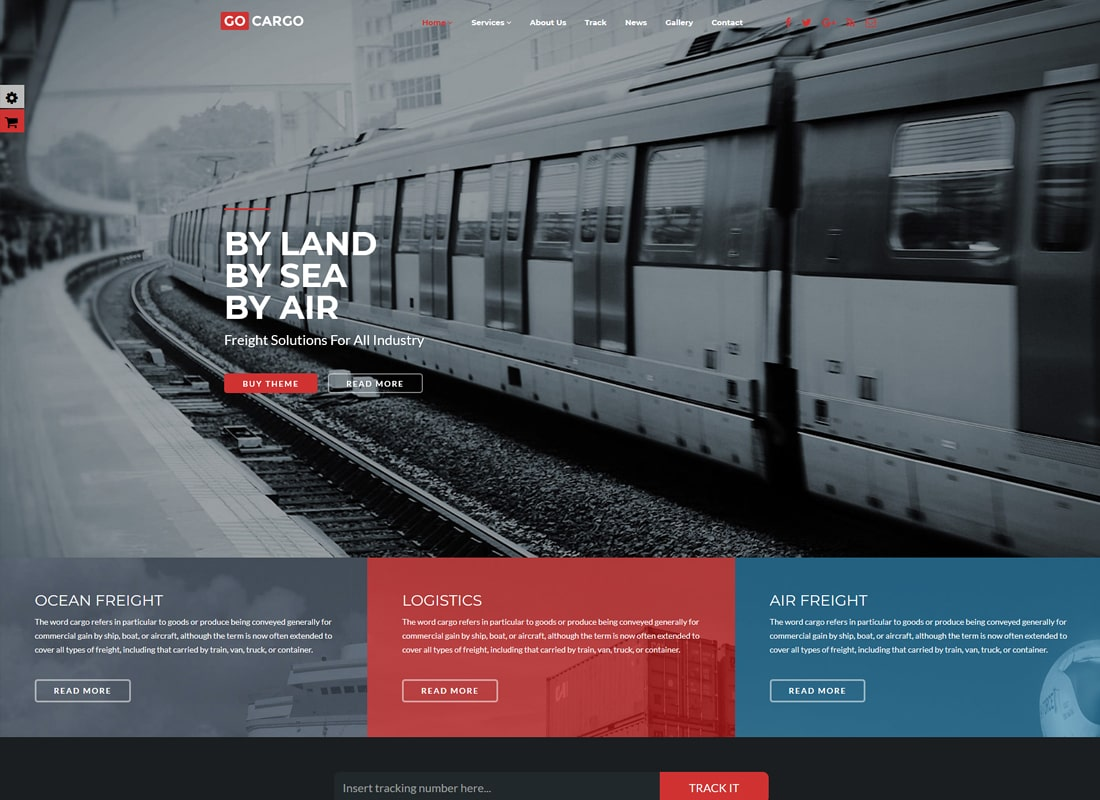 GoCargo | Freight, Logistics & Transportation WordPress Theme