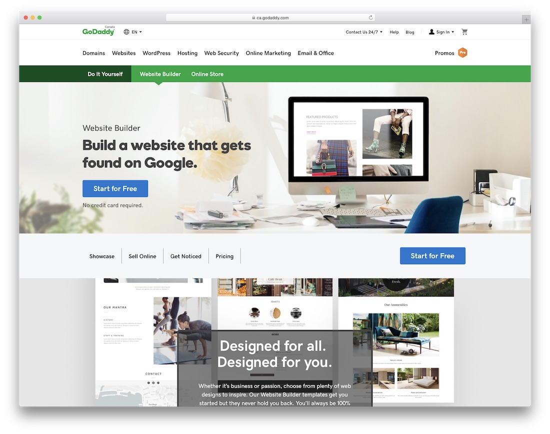 godaddy easiest website builder